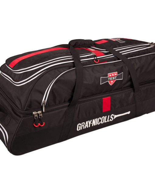 CHAA17Bag Test Holdall Black_red_white Front